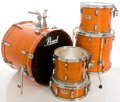 Musical Instruments:Drums & Percussion, Pearl ELX Export Series Taiwan Trans Orange Drum Set....