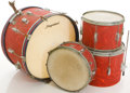 Musical Instruments:Drums & Percussion, Circa 1965 Slingerland Red Drum Set, #66074....