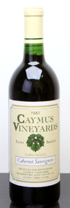 Domestic Cabernet Sauvignon/Meritage, Caymus Cabernet Sauvignon 1982 . Napa Valley. Bottle (1).... (Total: 1 Btl. )