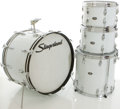Musical Instruments:Drums & Percussion, Circa 1970's Slingerland White Pearloid Drum Set, #268714....