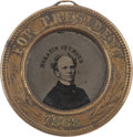 Political:Ferrotypes / Photo Badges (pre-1896), Horatio Seymour: Back-to-Back Ferrotype Badge....