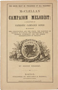 Political:Small Paper (pre-1896), George McClellan: Campaign Songster....