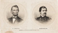 Political:Small Paper (pre-1896), Abraham Lincoln and George McClellan: Bartender's Friend....