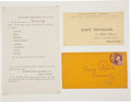 Political:Small Paper (pre-1896), Abraham Lincoln: Disseminating 1860 Election Results....