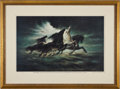 "Transportation:Space Exploration, Apollo 13: ""Steeds of Apollo"" Limited Edition Artist-Signed Printby Mission Insignia Designer Lumen Winter. ..."