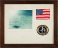 Transportation:Space Exploration, Apollo 14 Flown American Flag and Mission Patch OriginallyPresented by Mission Commander Alan Shepard, Signed andCertified....