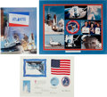 Transportation:Space Exploration, Space Shuttle Atlantis Flown Flags (Two) and Patch....
