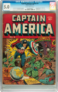 Golden Age (1938-1955):Superhero, Captain America Comics #2 (Timely, 1941) CGC VG/FN 5.0 Slightly brittle pages....