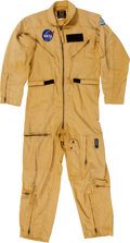 Transportation:Space Exploration, Astronaut Dr. Karl Henize's Gold NASA Flight Suit Originally fromHis Personal Collection....