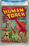 Golden Age (1938-1955):Superhero, The Human Torch #5 (#4) (Timely, 1941) CGC FN- 5.5 Cream tooff-white pages....