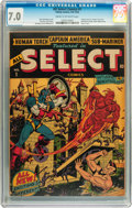 Golden Age (1938-1955):Superhero, All Select Comics #1 (Timely, 1943) CGC FN/VF 7.0 Cream to off-white pages....