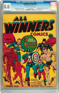 All Winners Comics #1 (Timely, 1941) CGC VF 8.0 Cream to off-white pages