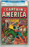 Golden Age (1938-1955):Superhero, Captain America Comics #6 (Timely, 1941) CGC VF 8.0 Cream to off-white pages....