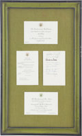 Autographs:Celebrities, Apollo 7 & 8 and Apollo 11: Presidential Dinner Invitations Presented to Mrs. Ed White II in 1968 and 1969, One Signed by Wern...