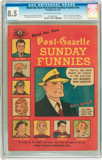 Meet the New Post-Gazette Sunday Funnies #nn (Pittsburgh Post, 1949) CGC VF+ 8.5 Off-white to white pages