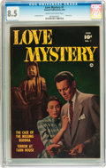 Golden Age (1938-1955):Romance, Love Mystery #1 (Fawcett, 1950) CGC VF+ 8.5 Cream to off-whitepages....