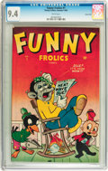 Golden Age (1938-1955):Funny Animal, Funny Frolics #1 Carson City pedigree (Timely, 1945) CGC NM 9.4White pages....