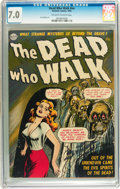Golden Age (1938-1955):Horror, The Dead Who Walk #nn (Realistic Comics, 1952) CGC FN/VF 7.0Off-white to white pages....