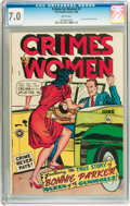 Golden Age (1938-1955):Crime, Crimes by Women #1 (Fox Features Syndicate, 1948) CGC FN/VF 7.0White pages....