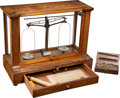 Western Expansion:Goldrush, 19th-Century Precision Balance Scale.... (Total: 2 Items)