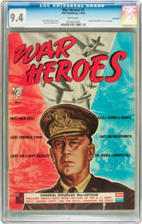 War Heroes #1 Vancouver pedigree (Dell, 1942) CGC NM 9.4 White pages