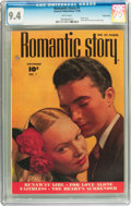 Golden Age (1938-1955):Romance, Romantic Story #1 Carson City pedigree (Fawcett, 1949) CGC NM 9.4White pages....