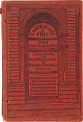 Miscellaneous:Booklets, San Francisco Earthquake and Fire Booklet....