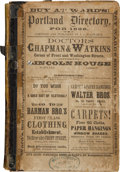 Miscellaneous:Booklets, Directory for the City of Portland, Oregon, 1866....