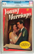 Golden Age (1938-1955):Romance, Young Marriage #1 Carson City pedigree (Fawcett, 1950) CGC NM- 9.2White pages....