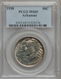 Commemorative Silver: , 1938 50C Arkansas MS65 PCGS. PCGS Population (200/80). NGC Census:(147/41). Mintage: 3,156. Numismedia Wsl. Price for prob...