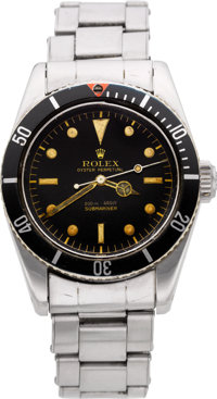 "Rolex Very Rare Ref. 5510 Oyster Perpetual Submariner ""James Bond"" Big Crown Wristwatch, circa 1958"