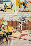 Original Comic Art:Comic Strip Art, Hal Foster Prince Valiant Hand Colored Sunday Comic Strip #1364 Original Art dated 3-31-63 (King Features Syndicat...