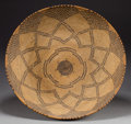 American Indian Art:Baskets, AN APACHE COILED TRAY. c. 1910...