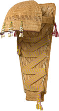 American Indian Art:Baskets, A PAIUTE TWINED BABY CARRIER. c. 1940...