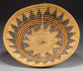 American Indian Art:Baskets, A NAVAJO COILED WEDDING TRAY. c. 1940...