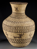 American Indian Art:Baskets, AN APACHE PICTORIAL TWINED STORAGE JAR. Linda Guzman. c. 1985...