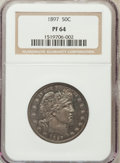 Proof Barber Half Dollars: , 1897 50C PR64 NGC. NGC Census: (70/91). PCGS Population (56/55).Mintage: 731. Numismedia Wsl. Price for problem free NGC/P...