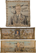 Transportation:Aviation, Charles Lindbergh: Three Commemorative Textiles.... (Total: 3Items)