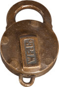 Western Expansion:Goldrush, Wells Fargo: 1882 Padlock....