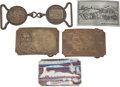 Western Expansion:Goldrush, Wells Fargo and Adams Express Belt Buckles.... (Total: 5 Items)