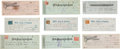 Western Expansion:Cowboy, Wells, Fargo & Company: Lot of Nine Checks, Circa 1868-1908....
