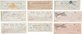 Western Expansion:Cowboy, Wells, Fargo & Company: Lot of Nine Checks, San Francisco Circa1864-1890....