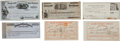 Western Expansion:Cowboy, Adams Express Company: Lot of Financial Documents and Receipts,Circa 1859-1866.... (Total: 6 Items)