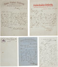 Western Expansion:Cowboy, Adams Express Company: Lot of Correspondence, Circa 1860-1864....
