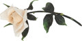 Political:Presidential Relics, White Porcelain Rose by Fleur Cowles....