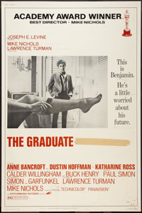 """The Graduate (Embassy, R-1972). Poster (40"""" X 60""""). Comedy"""