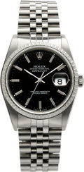 Timepieces:Wristwatch, Rolex 16220 Steel Oyster Perpetual Datejust, circa 1989. ...