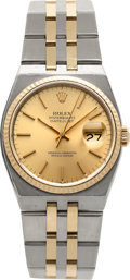 Timepieces:Wristwatch, Rolex Ref. 17000 B Steel & Gold Oysterquartz Datejust, circa1980. ...