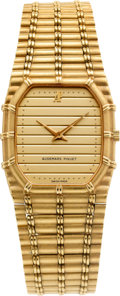 Timepieces:Wristwatch, Audemars Piguet B 88634 Gold Wristwatch. ...