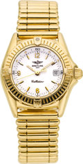 "Timepieces:Wristwatch, Breitling Lady's ""Callistino"" 18k Gold Bracelet Watch. ..."